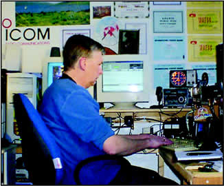 Co-author Phil Cooper, GU0SUP, operating RTTY from Guernsey.